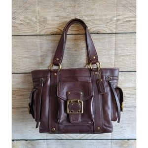 Authentic Coach Leather Satchel